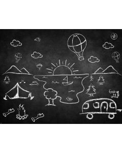 Photography Background in Fabric Chalkboard / Backdrop 1840